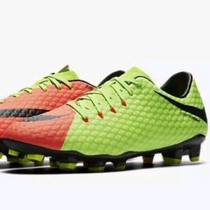 Nike Hypervenom Phelon III Orange/Green Cleats NEW